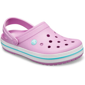 Crocs Crocband Clogs zoccoli, violet/white